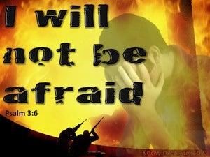 Psalm 3:6 I Will Not Be Afraid (orange)