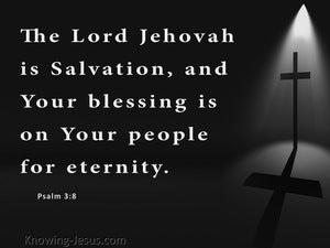 Psalm 3:8 The Lord Is Salvation (white)