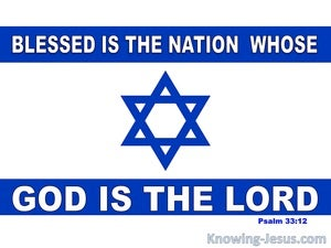 Psalm 33:12 Blessed Is The Nation Whose God Is The Lord (blue)