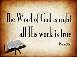 Psalm 33:4 The Word Of God Is True (beige)