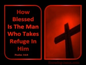 Psalm 34:8 Taste And See The Lord Is Good (red)