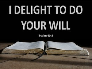 Psalm 40:8 I Delight To Do Your Will (gray)