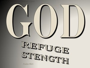 Psalm 46:1 God Is Our Refuge And Strength (beige)