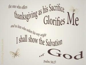 Psalm 50:23 Sacrifice Of Thanksgiving (beige)