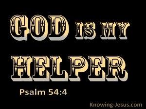 Psalm 54:4 God Is My Helper (black)