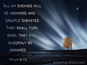 Psalm 6:10 All My Enemies Will Be Dismayed And Ashamed (navy)