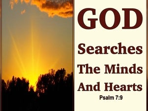Psalm 7:9 God Searches The Minds And Hearts (beige)