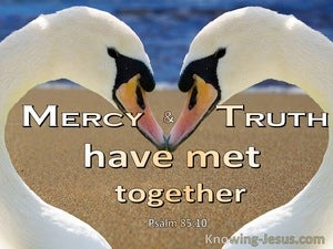 Psalm 85:10 Mercy And Truth Have Met (white)