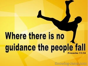 Proverbs 11:14 In Abundance Of Counsellors (yellow)