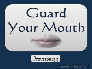 Proverbs 13:3 Guard Your Mouth blue