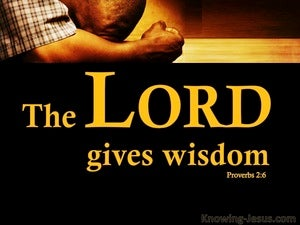 Proverbs 2:6 The Lord Gives Wisdom black