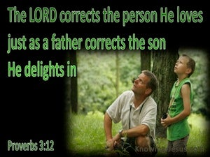 Proverbs 3:12 God Corrects Us green