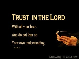 Proverbs 3:5 Trust In The Lord gold