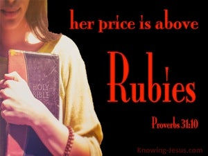 Proverbs 31:10 Who Can Find A Virtuous Woman red