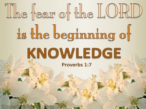 Proverbs 1:7 The Fear Of The Lord (beige)