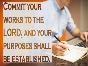 Proverbs 16:3 Commit Your Plans To The Lord (orange)