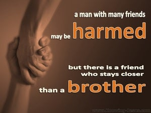 Proverbs 18:24 There Is A Friend (brown)