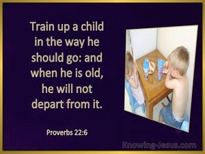 Proverbs 22:6 Train Up A Child (black)