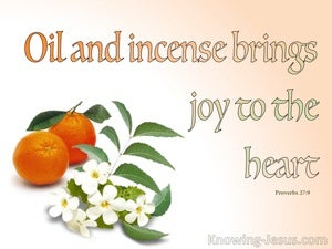Proverbs 27:9 Incense Brings Joy To The Heart (orange)