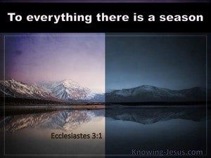 Ecclesiastes 3:1 To Everything There Is A Season purple