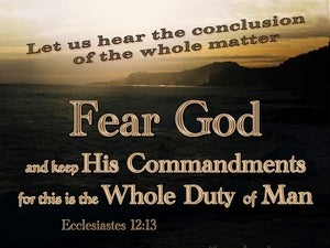 Ecclesiastes 12:13 Fear God And Keep His Commandments (brown)