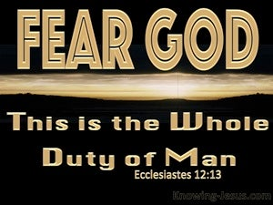Ecclesiastes 12:13 Fear God And Keep His Commandments (gold)