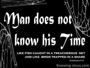 Ecclesiastes 9:12 Man Does Not Know His Time (white)