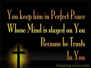 Isaiah 26:3 Perfect Peace Yellow