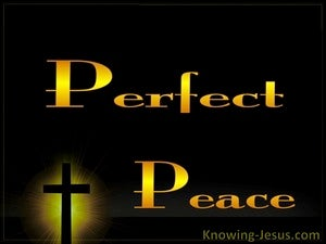 Isaiah 26:3 Perfect Peace gold