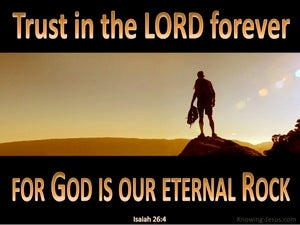 Isaiah 26:4 Trust in the Lord Forever black