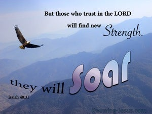 Isaiah 40:31 Those Who Trust In The Lord Will Soar blue