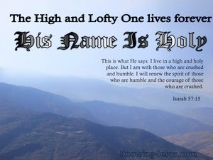 Isaiah 57:15 His Name Is Holy blue