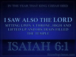 Isaiah 6:1 The Lord Sitting Upon A Throne blue