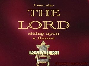 Isaiah 6:1 The Lord Sitting Upon A Throne red
