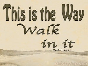 Isaiah 30:21 This Is The Way Walk In It (brown)