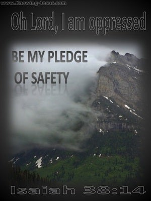 Isaiah 38:14 Be My Pledge Of Safety (gray)