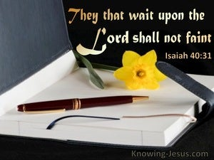 Isaiah 40:13 They That Wait Upon The Lord Shall Not Faint (utmost)07:20