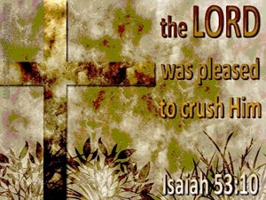 Isaiah 53:10 The Lord Crushed Him (sage)