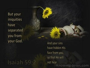Isaiah 59:2 Your Iniquities Have Made A Separation Between You And God (brown)
