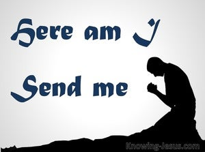 Isaiah 6:8 Here Am I Send Me (navy)