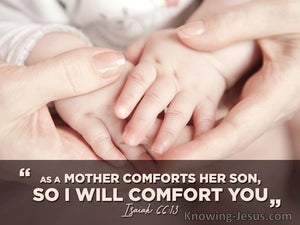 Isaiah 66:12 As A Mother Comforts Her Son So I Comfort You (pink)