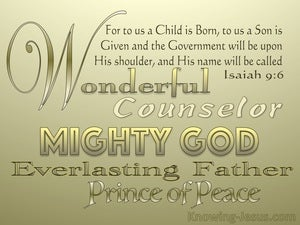 Isaiah 9:6 Unto Us A Child Is Born (gold)