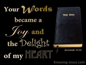 Jeremiah 15:16 You Word Is A Joy And Delight (black)