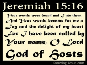 Jeremiah 15:16 You Word Is A Joy And Delight (cream)