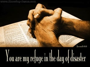 Jeremiah 17:17 You Are My Refuge (black)