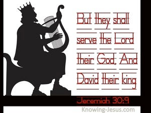 Jeremiah 30:9 They Shall Serve The Lord Their God, And David Their King (black)