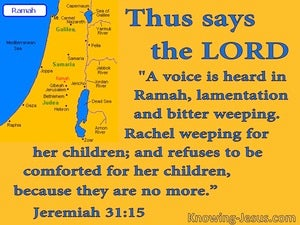 Jeremiah 31:15 Rachel Weeping For Her Children (yellow)