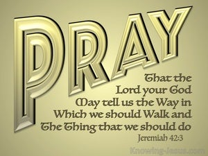 Jeremiah 42:3 Pray That The Lord May Show Us The Way (gold)