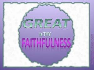 Lamentations 3:23 Great Is Thy Faithfulness (purple)