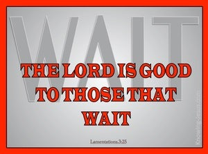 Lamentations 3:25 The Lord Is Good To Those Who Wait (red)